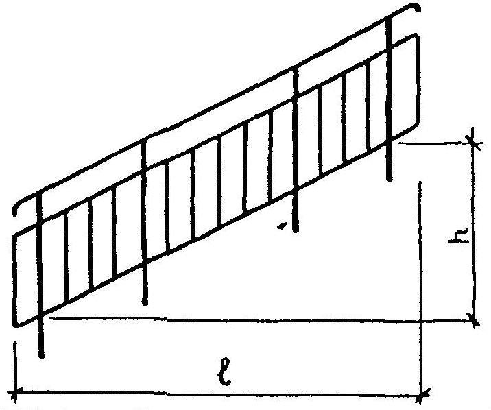Лестницы для канализационных колодцев  стальные стремянки