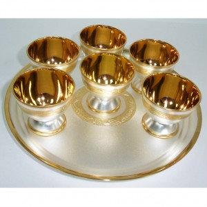 Продам Набор Ликёрный с серебром и золотом