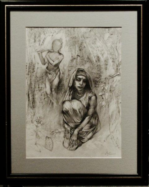 """Продам 70г рисунок автор. """"Индийская девоч"""