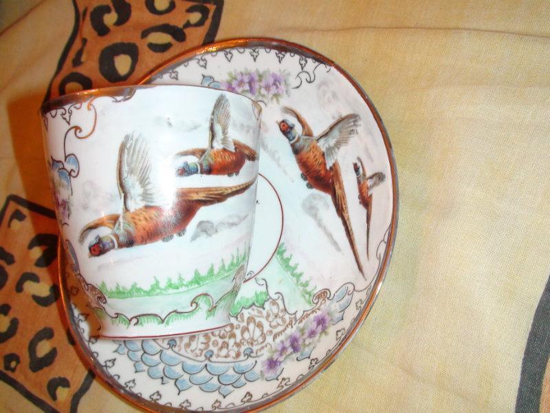 Продам 60г руч. роспись чайная пара Фазаны