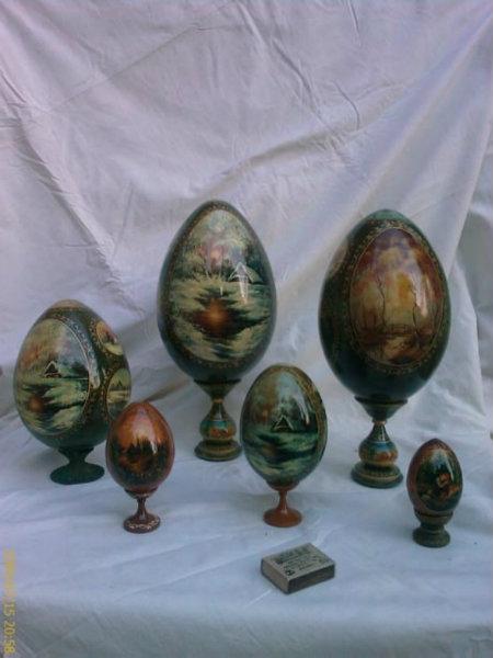 Продам яйцо расписное деревянное авторское