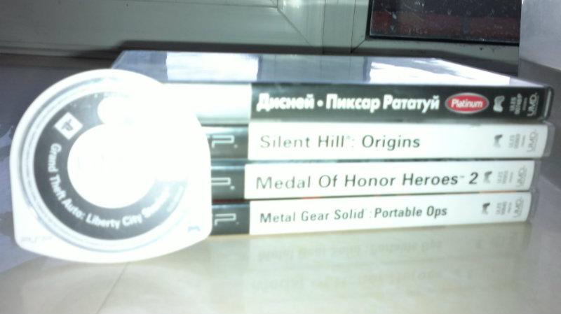Продам Продам 5 игр на PSP (лицензии).