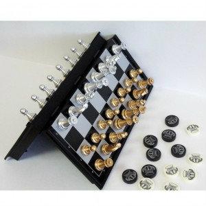 Продам Магнитный набор игр шахматы-шашки