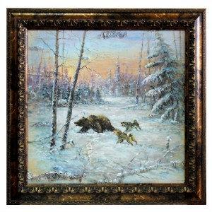 Продам Большая Картина маслом на бересте