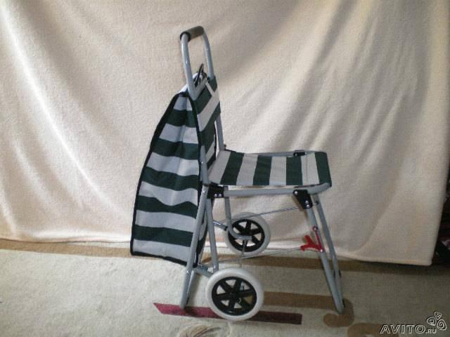 Продам Хоз.сумка  на  колесиках+ стульчик