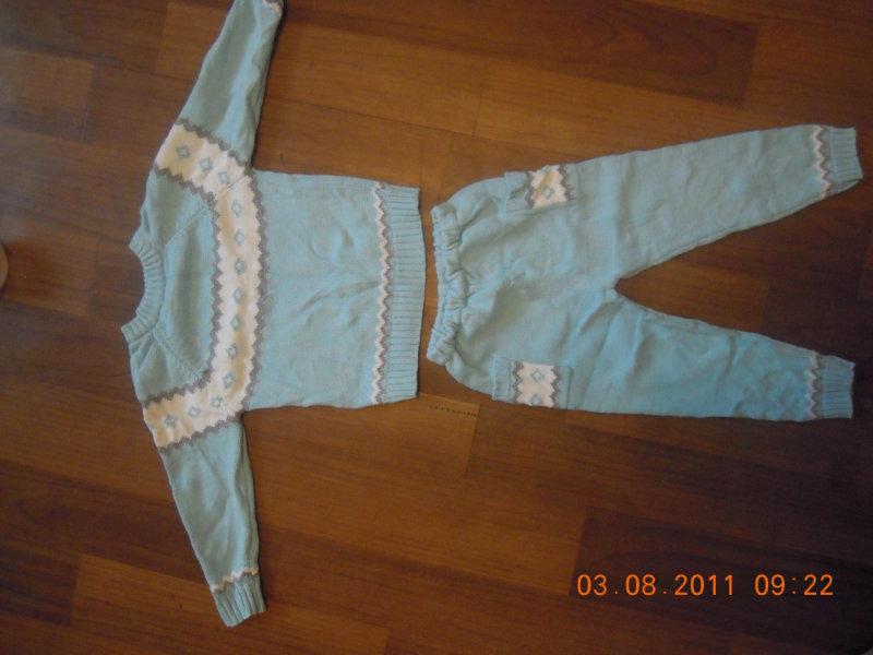 Продам: вязанный костюм размер 92.