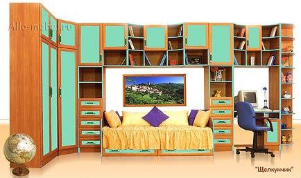 Продам стенка для детской комнаты с кроватью