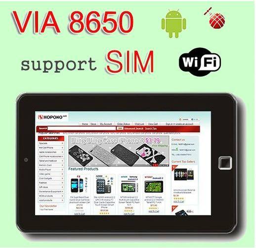 Продам: Планшетный компьютер с слотом для sim