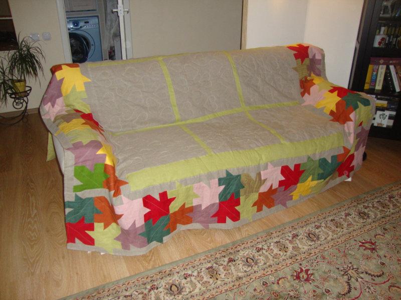 Продам: лоскутные покрывала, подушки, скатерти,