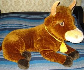 Продам Плюшевую корову большую длина 110 см.