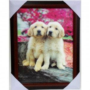 Продам Объёмная 3D картина Два щеночка