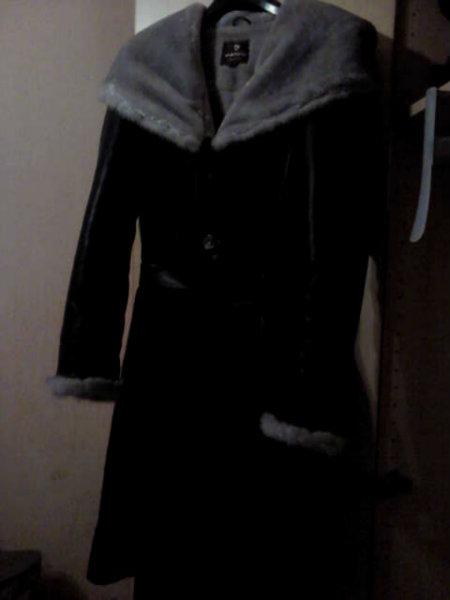 Продам Кожаное пальто на меху новое разм 44
