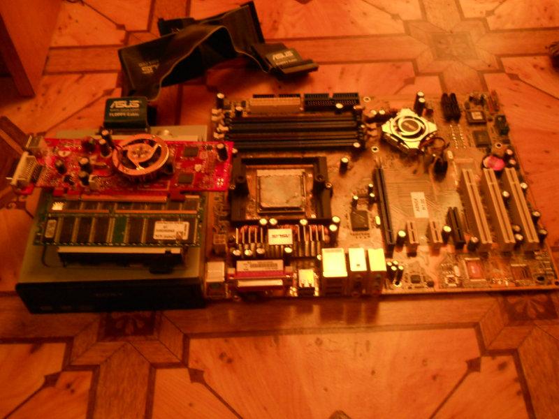 Продам: Мат. плата, процессор, видеокарта...