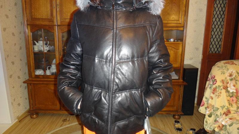 Продам: Мужской кожаный пуховик Турция