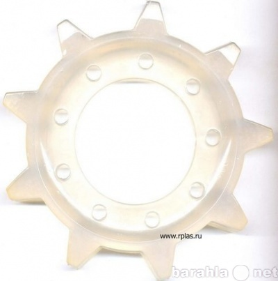"""Мы производим пластиковые шестерни для гусеницы снегохода  """"Буран """" ( по каталогу: 110200015) ."""
