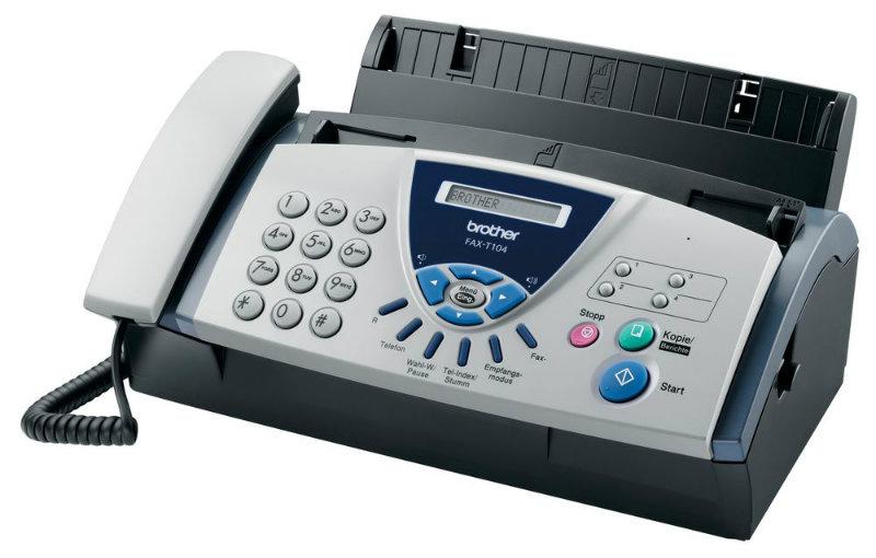 Продам: Телефон-факс Brother FAX-T104 обыч.листы