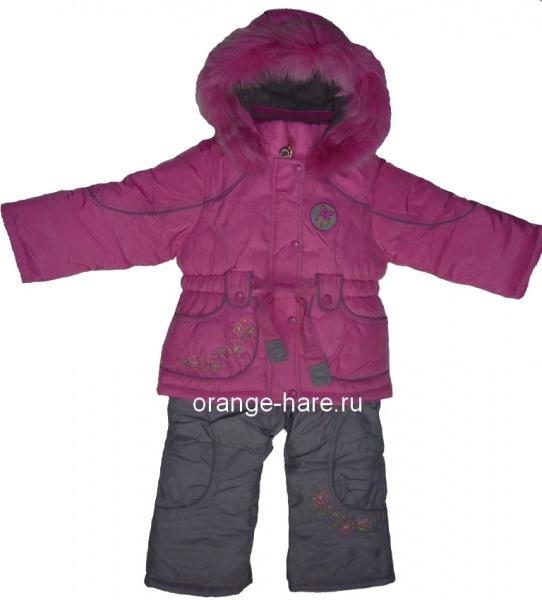 Продам Зимний комплект для девочки. 80-86Пух.