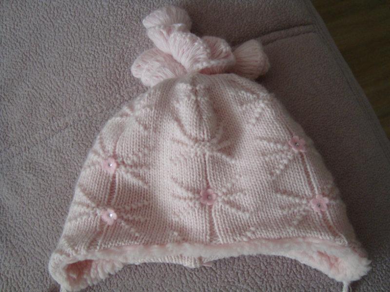 Продам зимнюю шапку для малышки
