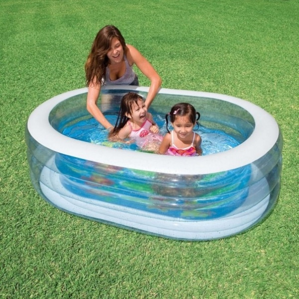Продам Надувной овальный бассейн 163х107х46см