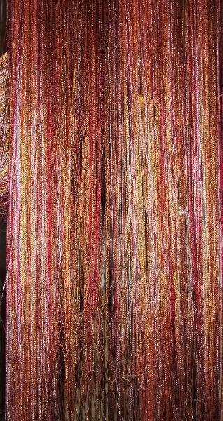 Продам Штора нитяная радуга бордово-золотистая