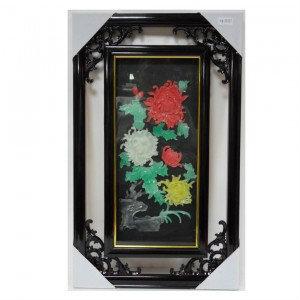 Продам Картина Хризантемы из цветного нефрита