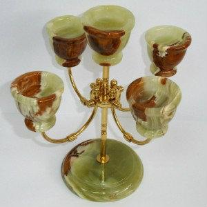Продам Подсвечник из камня оникса 5 свечей