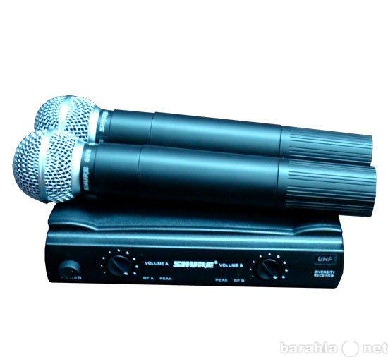 Продам Микрофон SHURE SM58 радиосистема 2 мик.