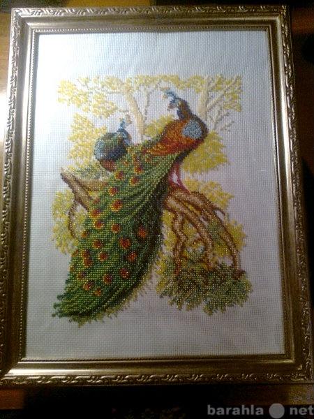 """Продам Картина из бисера, """"Два фазана&quot"""