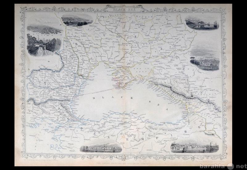 Продам Карта России, Черное море, 1850 год, J.