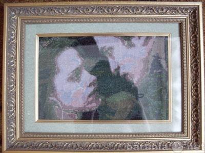 Продам готовая вышитая картина Сумерки