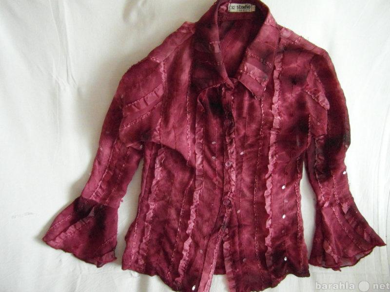 Продам Блузка бардовая для девочки 7-10 лет.