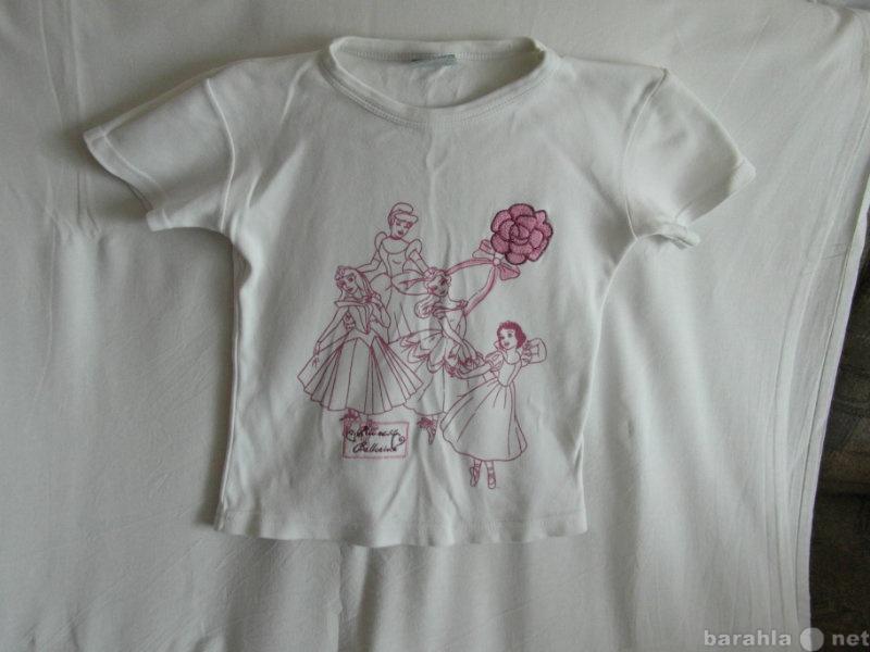 Продам футболка белая с вышивкой и рисунком