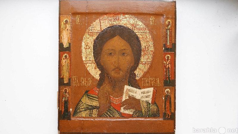 Продам Икона Спас с предстоящими,  Россия, XVII