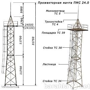 Продам Прожекторная мачта ПМС-24
