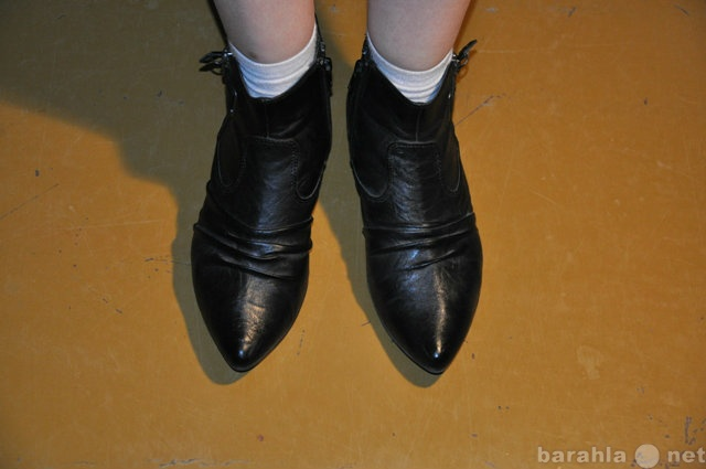 Продам Продаю Черные кожаные Ботильоны