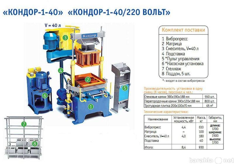 Продам Вибропрессующая установка «КОНДОР-1-40»