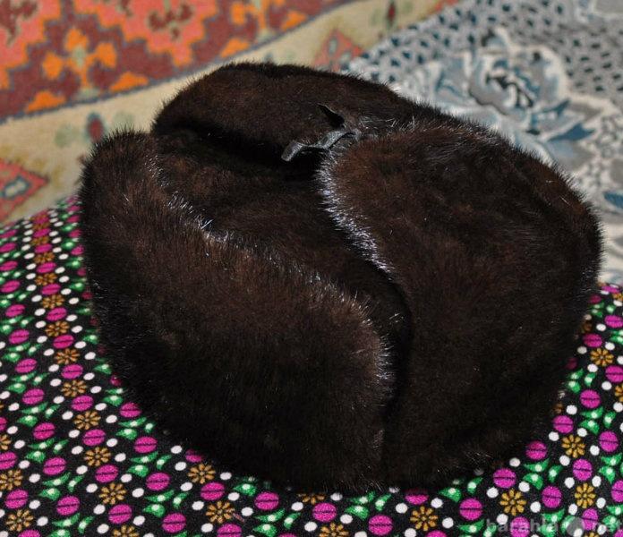 Продам Норковая шапка-ушанка мужская 56-61 раз.
