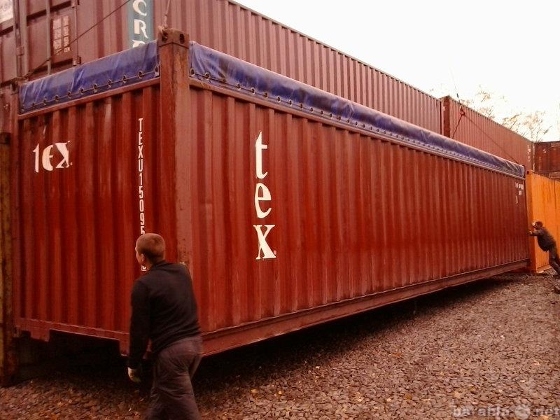 Продам контейнер с открытым верхом тент
