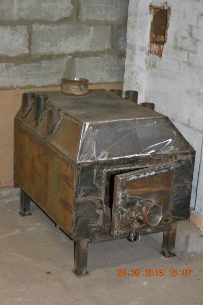 Печь для дома на дровах металлическая