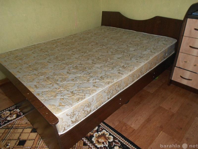 Продам 2-х спальная кровать с матрасом