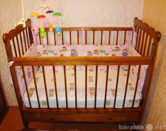 Продам Детская кроватка-качалка, детский матрац