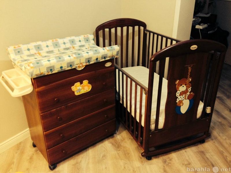 Продам: детская кровать+ комод+ матрас
