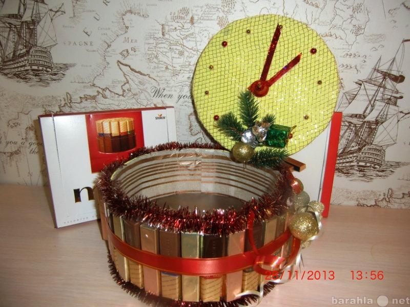 Продам Новогодние Часы- шкатулка из конфет