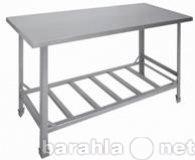 Продам металлический стол и двухсекционую мойку