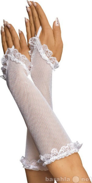 Продам 633202 - Перчатки-сетка, до локтя, белые