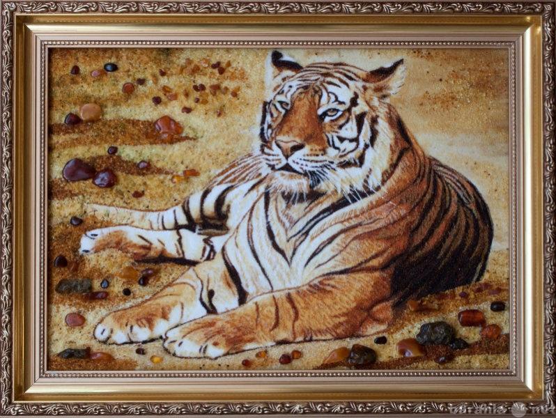 "Продам Янтарное панно""Тигр"""