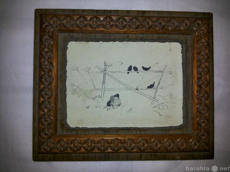 """Продам: """"Птички"""",рисунок тушью»"""