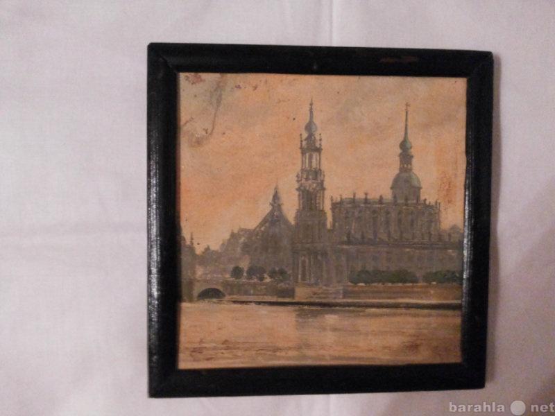 Продам: картина картон масло Европейский город