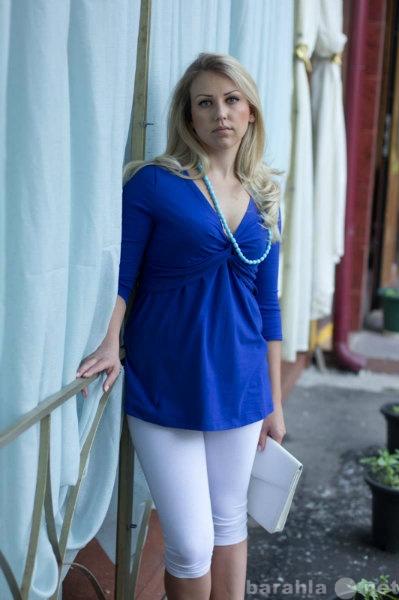 Продам Туника Узел синяя для беременных