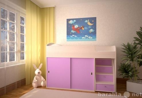 Продам Кровать чердак Малыш Купе дуб-ирис